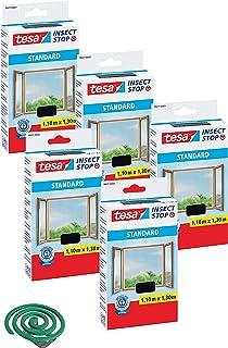 tesa Insect Stop STANDAARD vliegengaas voor ramen - insectenbescherming op maat te snijden - muggenbescherming zonder bore...