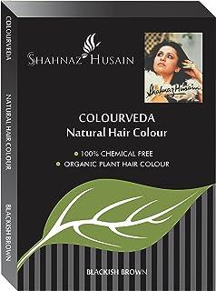 Shahnaz Husain Colourveda Natural Hair Colour Blackish Brown 100g (Pack of 1)