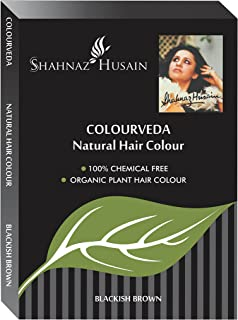 Shahnaz Husain Colourveda Herbal Ayurvedic Natural Hair Color Latest International Packaging (3.5 oz / 100 g)