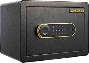 AUTIGERSAFE Safe Box, Money Safe, Security Home Safe Box with Intelligent Alarm System, Alloy Steel Cabinet Safe with Digi...
