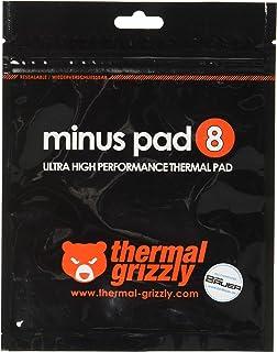 Thermal Grizzly   Thermopad Minus Pad 8   Silikon, Selbstklebendes, Wärmeleitendes Wärmeleitpad. Es leitet Wärme und Kühlt die Heizelemente des Computers oder der Konsole. (120 × 20 × 1,0 mm, 2 Stück)