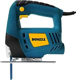 Bohell SC400 - Sierra de calar para bricolaje para madera, acero y aluminio, 400 W, velocidad de 3000rpm y botón de funcionamiento continuo, ángulo de corte de 0 a 45º
