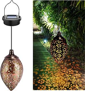 Hanging Solar Lights Solar Lantern LED Garden Lights Metal Lamp Waterproof for Outdoor,Home Decorative,Party,festival,Chri...