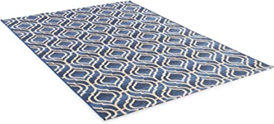 Benuta Modern Rug for Living Room and Bedroom, Synthetic Fibre, Blue, 80 x 165 x 0,2 cm