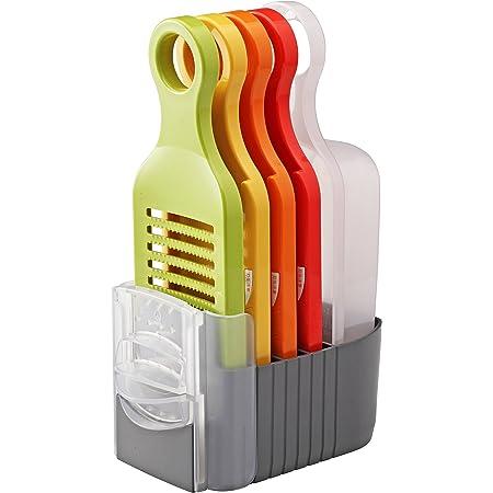 愛工業(Aikogyo) 野菜調理器セット おろし 薄切り 千六本 細千切り プロテクター 受け器 スタンド