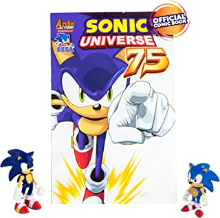 TOMY Sonic Collector Series 2Figure Pack con Comic, Sonic clásico y Sonic Moderno