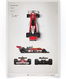 Automobilist McLaren M23 - James Hunt - Blueprint - Unique Design Limited Edition Poster - Standard Poster Size 19 ¾ x 27 ½ Inch