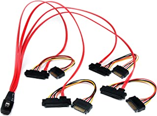 StarTech.com 50cm Internal Serial Attached SCSI Mini SAS Cable - SFF8087 to 4x SFF8482 - Internal Mini SAS Cable (SAS80878...