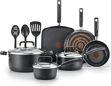 T-fal C530SC Signature Nonstick Dishwasher Safe Cookware Set, Nonstick Pots and Pans Set