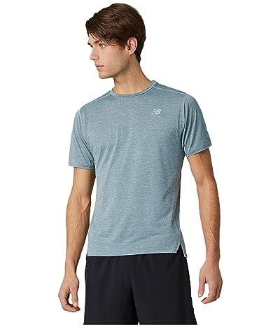 New Balance Impact Run Short Sleeve Tee (Light Slate Heather) Men