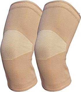 knee braces for knee pain(2 Pack)-knee compression sleeves for arthritis pain and support,Meniscus Tear,Workout,running, sports (beige, XL)