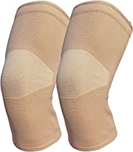 Knee Braces for Knee Pain(2 Pack)- Knee Compression Sleeves for Arthritis Pain and Support,Meniscus Tear, ACL, MCL, Running, Workout, Sports (Beige, M)