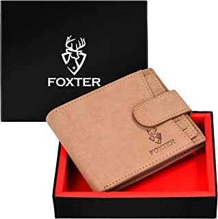 Foxter RFID Protected 100% Genuine High Quality Mens Brown Leather Wallet