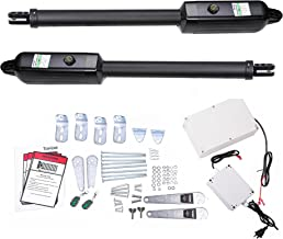 TOPENS PW502 Automatic Gate Opener Kit Medium Duty Dual Gate Operator for Dual Swing Gates Up to 16 Feet or 550 Pounds, Gate Motor AC Powered