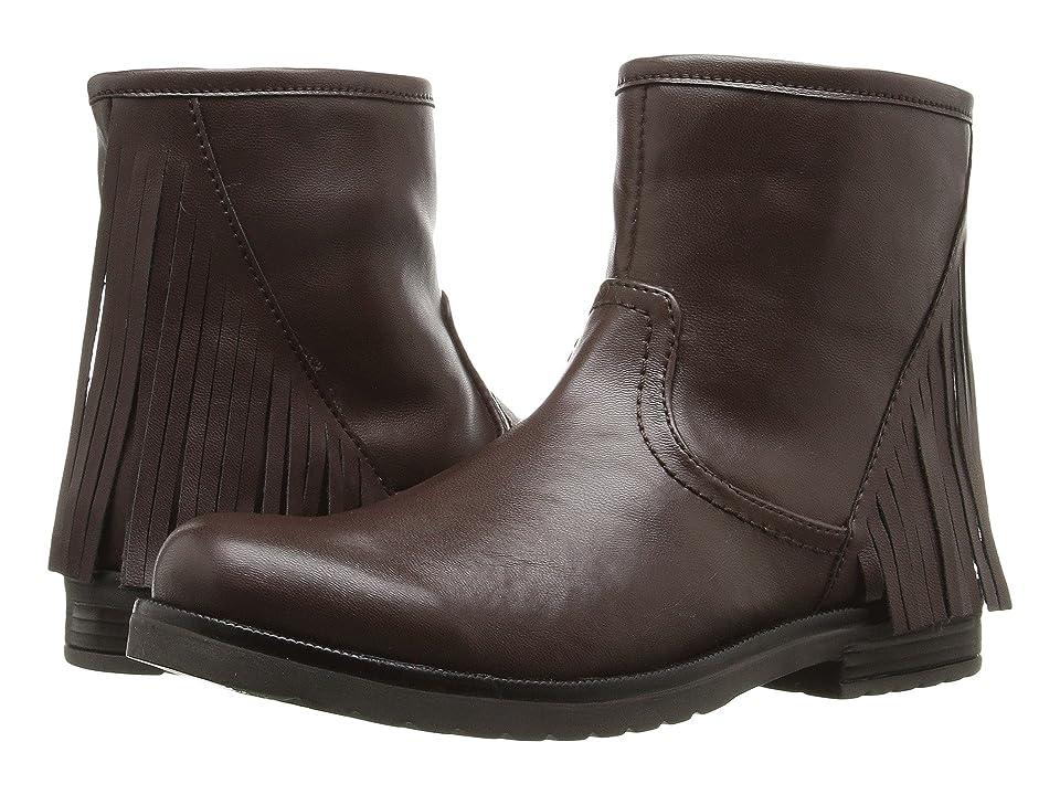 Pazitos Sideways Short Bootie PU (Little Kid/Big Kid) (Brown) Girls Shoes
