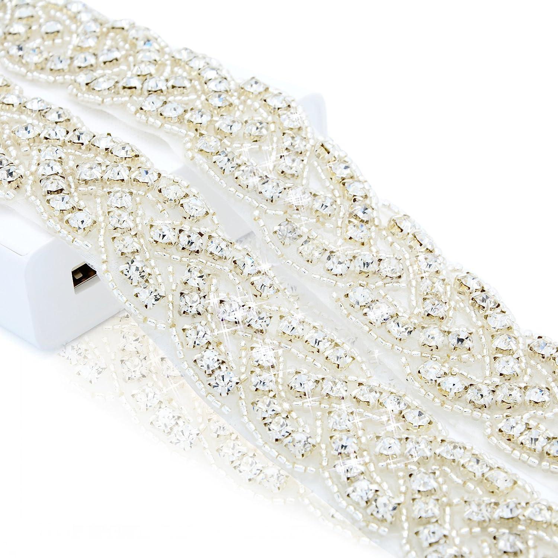 Crystal Trim 1 Yard Rhinestone Trim Rhinestone Applique Bridal Applique DIY Wedding Applique Sash Applique Bridal Headpiece