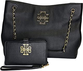 Tory Burch Britten Triple Compartment Tote bundled with Tory Burch Britten Smart Phone Wallet