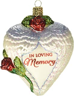 Old World Christmas Ornaments: in Loving Memory Glass Blown Ornaments for Christmas Tree