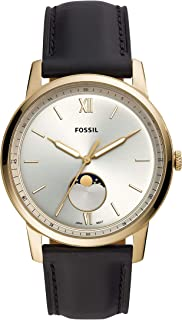 Fossil Men's Quartz Watch analog Display and Leather Strap, FS5571