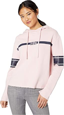 40d249287a48 Palisades Pink. 307. Juicy Couture. Knit JXJC Logo Center Stripe Hooded  Pullover. $9.99MSRP: $44.50