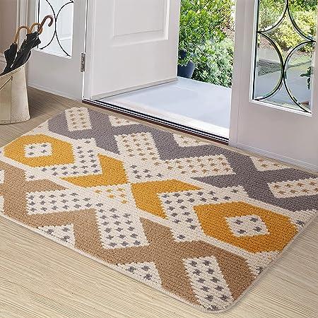 """Color&Geometry Indoor Door Mat Front Door Mat 24""""x36"""" Waterproof, Non Slip Washable Quickly Absorb Moisture and Resist Dirt Rugs for Entrance"""