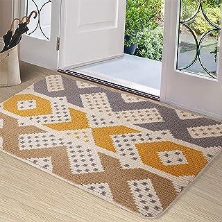 Color&Geometry Paillasson d'intérieur 81,3 x 121,9 cm, imperméable, antidérapant, lavable, absorbe rapidement l'humidité e...