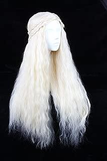 Angelaicos Fluffy Cosplay Wigs for Game of Thrones Daenerys Targaryen Long Blonde