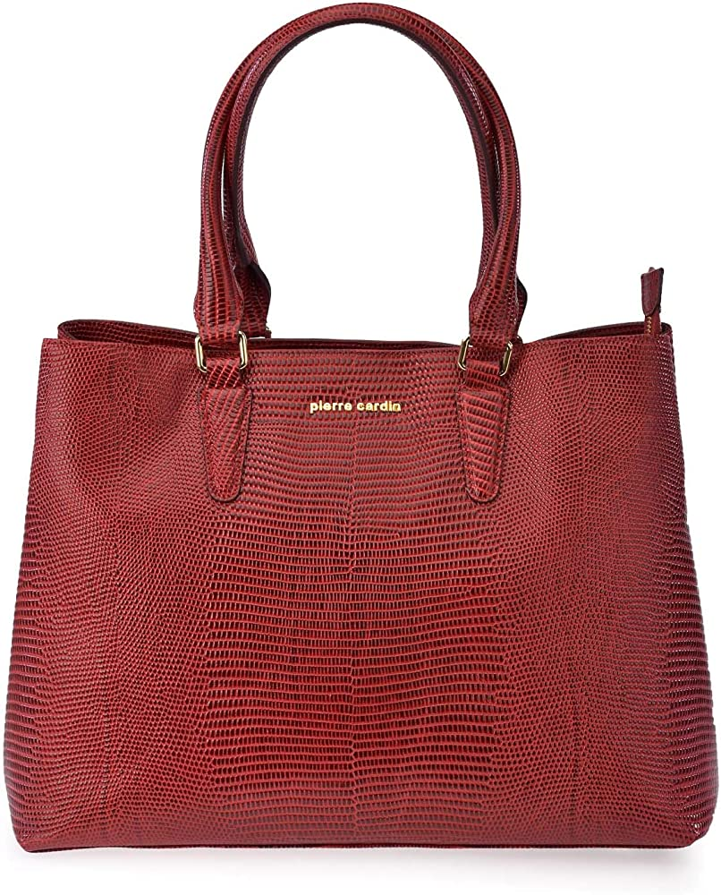 Borsa shopping donna, in pelle, pierre cardin 11550