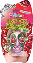 7th Heaven Passion Easy Peel-Off Face Mask with Juiced Raspberries, Passion Flowers and Pomegranate to Protect and Remove Unwanted Oils from Normal, Oily and Combo Skin