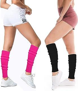 تدفئة الساق للنساء 80s نيون مضلع الساق اكسسوارات الرياضة اليوغا