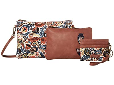 Sakroots Artist Circle Adventure Triple Pouch (Clay Enchanted Forest) Handbags
