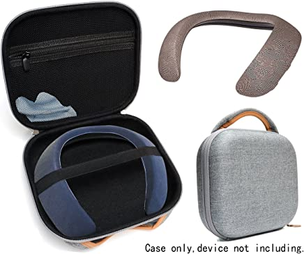 Funda protectora para Bose Soundwear compañero inalámbrico altavoz portátil por wgear, aparece diseñado con excelente protección, bolsillo de malla extraíble para cable y otros accesorio, tela gris