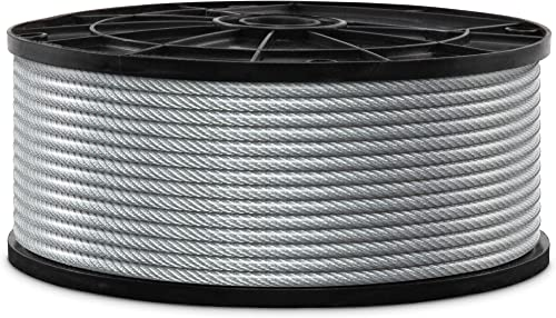"""high quality Jumbl high quality wholesale 7x7Wire Rope, 1/8"""" x 3/16"""" PVC Coated Galvanized Steel Aircraft Cable, Metal Rope Thickness 1/8-Inch (3.175mm) – PVC Coating Thickness 3/16 -Inch (4.76mm) outlet online sale"""