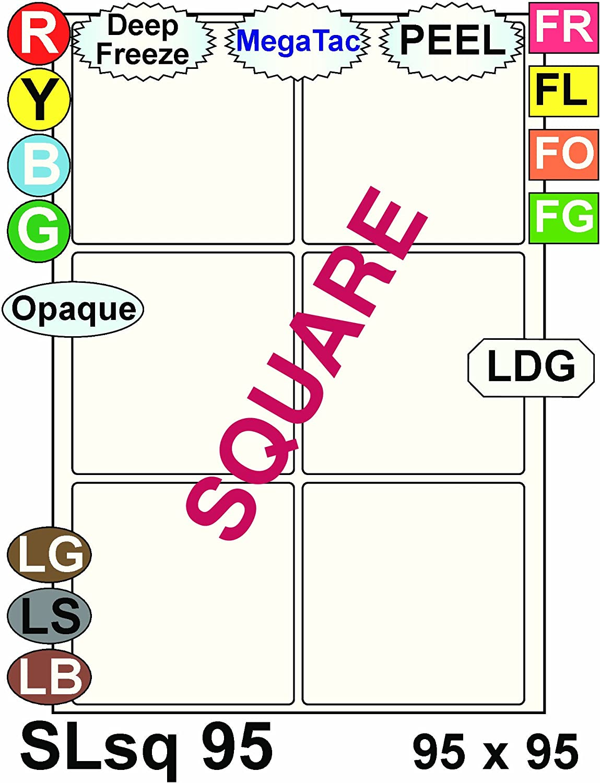 Multi Purpose Weiß Permanent Square Labels - 6 Labels Per Sheet - 100 Sheets 95mm x 95mm B00BXE6SZ8  | Abrechnungspreis
