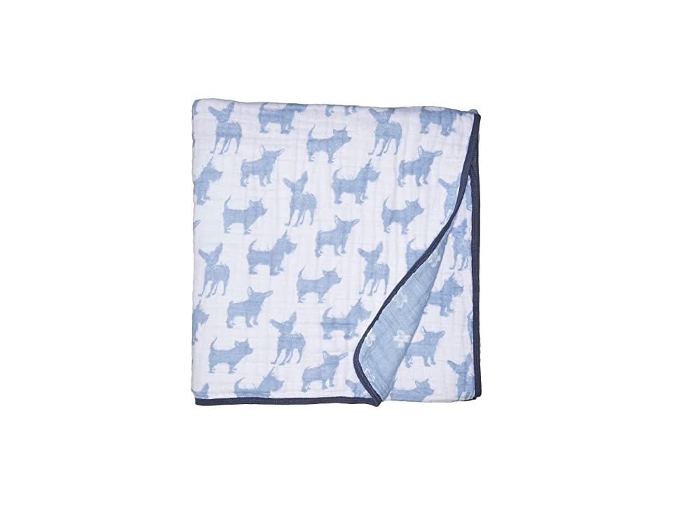Image of aden + anais Classic Dream Blanket (Blue Waverly/Pup) Sheets Bedding