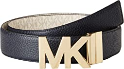 MICHAEL Michael Kors - 38mm Reversible Pebble to Logo Belt on MK Plaque Buckle
