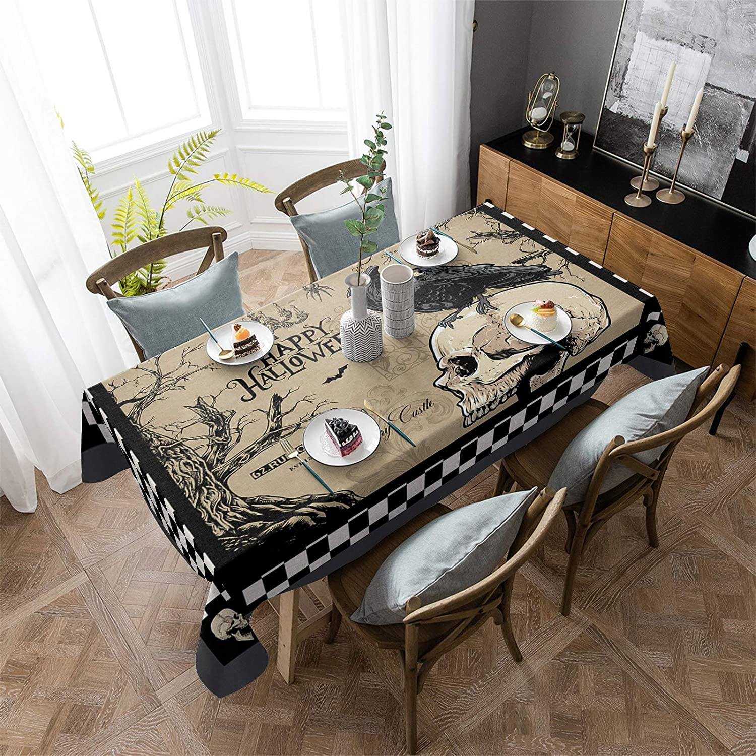 Outlet SALE ARTSHOWING Halloween Rectangular Tablecloth Washable 54x120inch 5 ☆ very popular