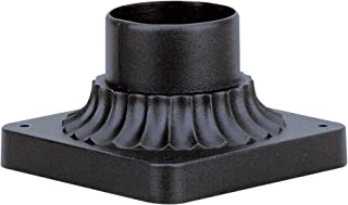 Westinghouse Lighting 6790100 Pedestal Mount for Post Lantern, Textured Black Finish on Cast Aluminum