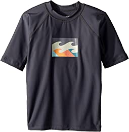 Billabong Kids - All Day Wave Short Sleeve PF Wetshirt (Toddler/Little Kids/Big Kids)