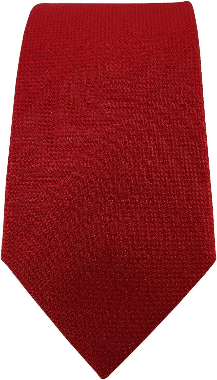 Blick Elementum Cravate en soie unie /à pois 100 /% soie pure