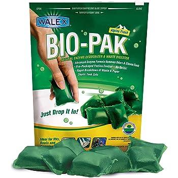 Walex BOI-11530 Bio-Pak Natural Holding Tank Deodorizer and Waste Digester Drop-Ins, Alpine Fresh Scent (10 count)