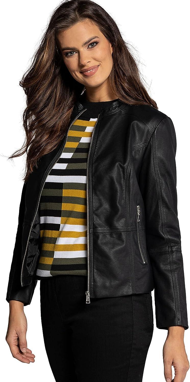 Ulla Popken Womenswear Plus Size Curvy Oversize Biker Jacket 790396
