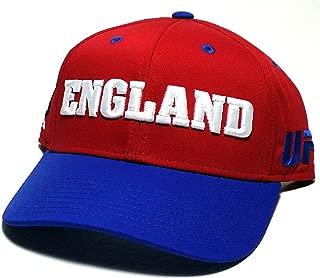 Reebok UFC MMA Red White Blue England UK Country Pride Adjustable Snapback Hat Cap