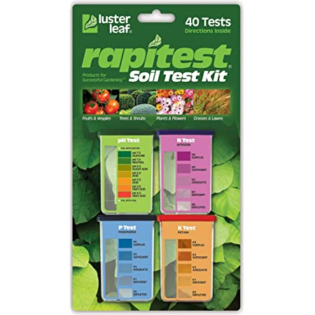 Luster Leaf 1601 Rapitest Test Kit for Soil pH, Nitrogen, Phosphorous and Potash, 1 Pack