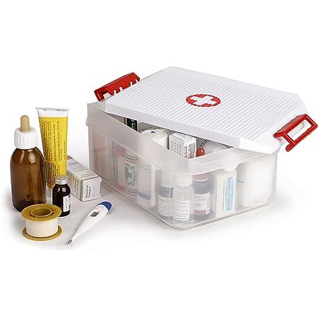TATAY 1150209 Boîte Multi-Usage à Pharmacie 4,5 L Plastique Blanc 29,7 x 19,2 x 12,4 cm