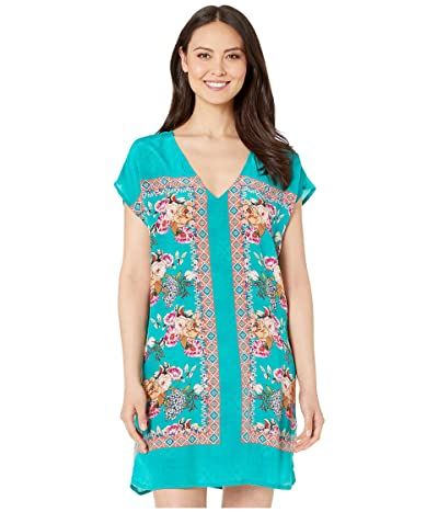 Tolani Trinity Tunic Dress (Turquoise) Women