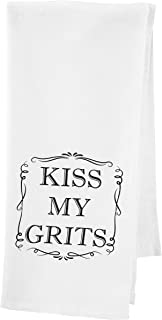 Party Explosions Kiss My Grits Southern Style Decorative Tea Towel