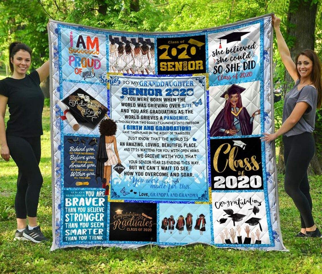 Personalized Dealing full price National products reduction to My Granddaughter Senior Grand Quilt and Grandpa
