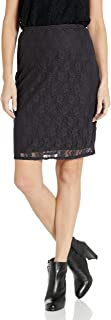Star Vixen Women's Stretch Lace Sexy Secretary Pencil Skirt-Lined