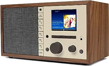 Grace Digital Mondo Elite Classic Smart Internet Radio Bluetooth Wi-Fi Qi-Wireless Fast Charger 7-Day Alarm – Microphone-F...